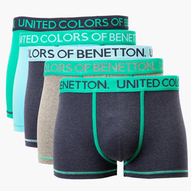 BENETTON - Pack 5 Boxers Algodón Hombre