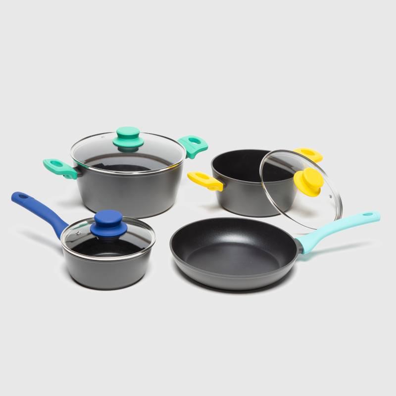 WURDEN - Batería de Cocina Antiadherente Aluminio Color 7 Piezas