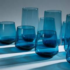 BENETTON - Set 12 Vasos Azul