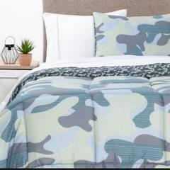MICA KIDS - Plumón + Juego de sábanas infantil Camuflaje