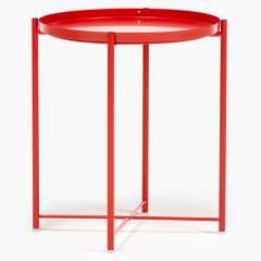 MICA - Mesa Auxiliar 52 cm Diam Rojo