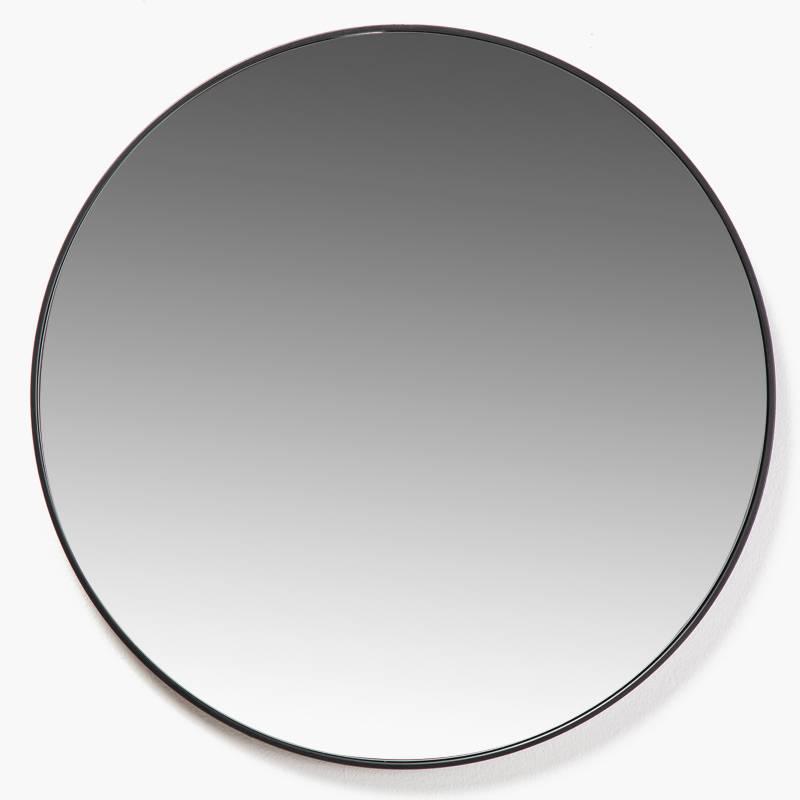 MICA - Espejo Pared 40 cm Diam Negro