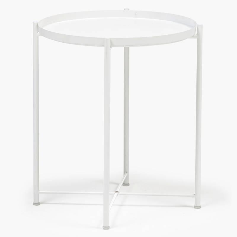 MICA - Mesa Auxiliar 52 cm Diam Blanco