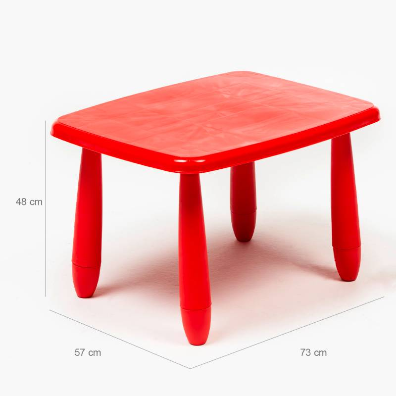 MICA - Mesa Infantil 47 cm Rojo