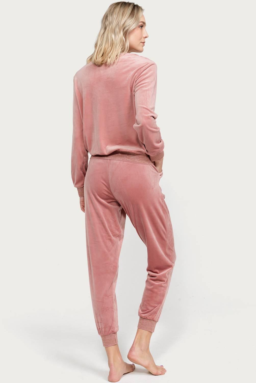 UNIVERSITY CLUB - Pijama mujer velvet