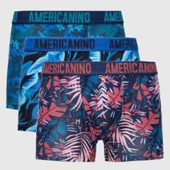 AMERICANINO - Pack de 3 Boxer de Algodón Hombre