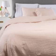 BASEMENT HOME - Funda de Plumón 100% Lino blush