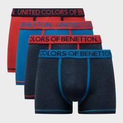 BENETTON - Pack de 4 Boxer de Algodón Hombre
