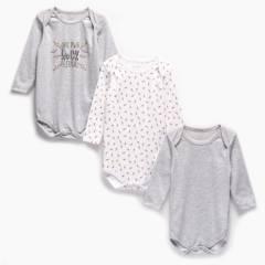 YAMP - Body Pack De 3 Unidades Algodón Bebé Niña