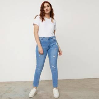 SYBILLA - Jeans Skinny Tiro Alto Mujer