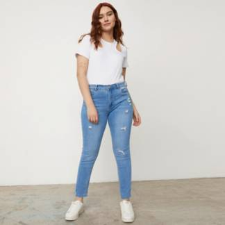 SYBILLA - Jeans  Tiro Medio Mujer