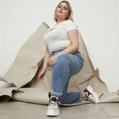 SYBILLA - Jeans Mom Tiro Medio Mujer