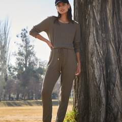 BASEMENT - Pantalon slim alto mujer