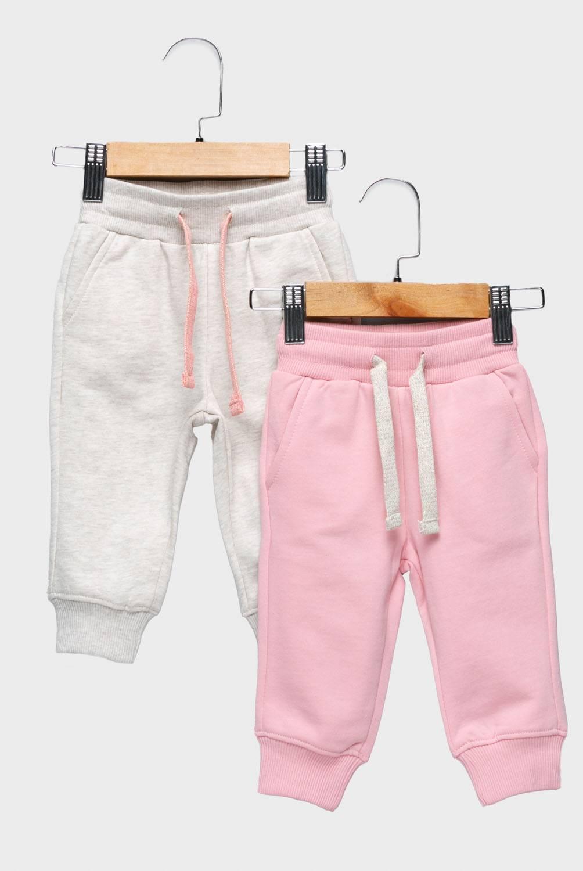 YAMP - Pantalón De Buzo Pack De 2 Unidades Algodón Bebé Niña