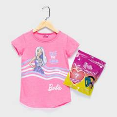 BARBIE - Poleras Con accesorio Barbie Algodón Niña