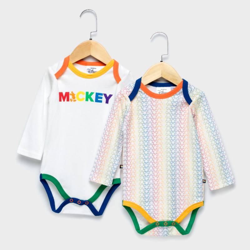 STD CHARACTERS - Body Pack De 2 Unidades Mickey Algodón Bebé Niño