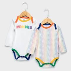 MINNIE - Body Pack De 2 Unidades Minnie Algodón Bebé Niña