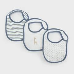YAMP - Babero Pack De 3 Unidades Algodón Bebé Niño