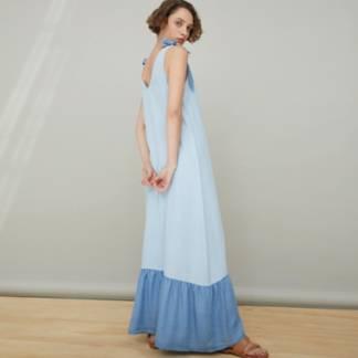 BASEMENT - Vestido Tencel Largo Mujer