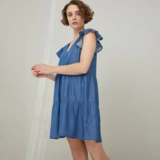 BASEMENT - Vestido Tencel Corto Mujer