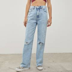 AMERICANINO - Jeans Wide Leg Tiro Alto Mujer