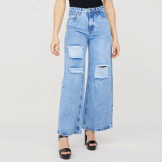 MOSSIMO - Jeans Wide Leg Tiro Alto Mujer