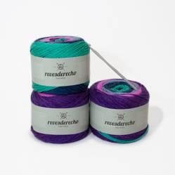 REVESDERECHO - Kit Knit your Shawl Purple