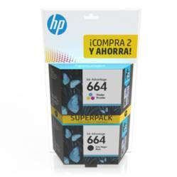 Tintas Super Pack 664 Negro/Tricolor