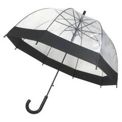 PLUVIA - Paraguas Basic Poe  Negro