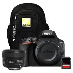 Nikon - Cámara Nikon D3500 Body  35mm Yongnuo  SD32gb
