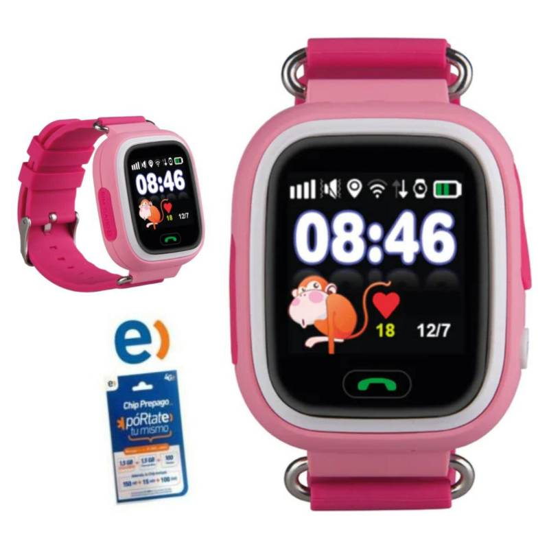 Dblue - Reloj Smartwatch Touch Niños Gps Wifi  Chip Entel