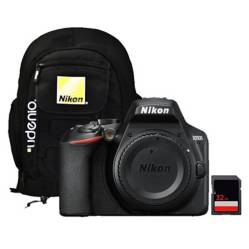 Nikon - Cámara Nikon D3500 Body  SD 32gb  Mochila