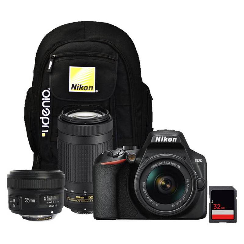 Nikon - Nikon D5600  Lente 18-55mm  70-300mm  35mmYong