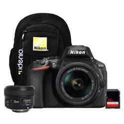 Nikon - Cámara Nikon D5600  Lente 18-55mm  35mm Yongnuo