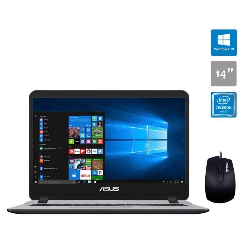ASUS - Notebook Asus X407Ma Intel Celeron 4Gb Ram 14