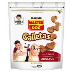 MASTER DOG - Perro Adulto Galletas Carne 12 Unidades