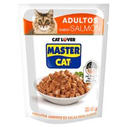 MASTER CAT - Gato Trocitos Jugosos Salmon 20 Unidades