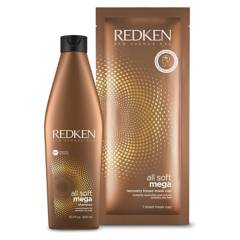 REDKEN - Set All Soft Mega Shampoo 300 ml + Regalo Recovery Tissue Mask Cap Redken