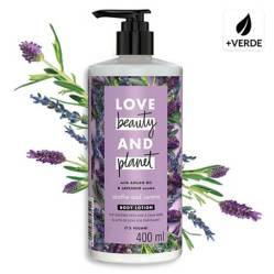 LOVE BEAUTY AND PLANET - Loción Corporal Argan Oil & Lavander 400 Ml
