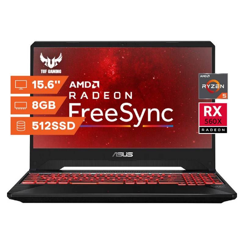 Asus - Notebook Gamer/Asus/Ryzen 5/8Gb Ram/512Gb/15.6