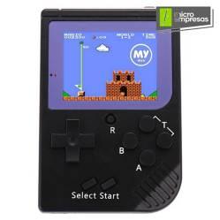 MY MIX - Mini Consola Retro Portátil 188 Juegos Negro