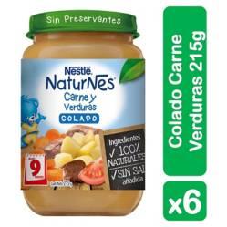 Colados Nestlé Naturnes Carne Verdura 215G X6