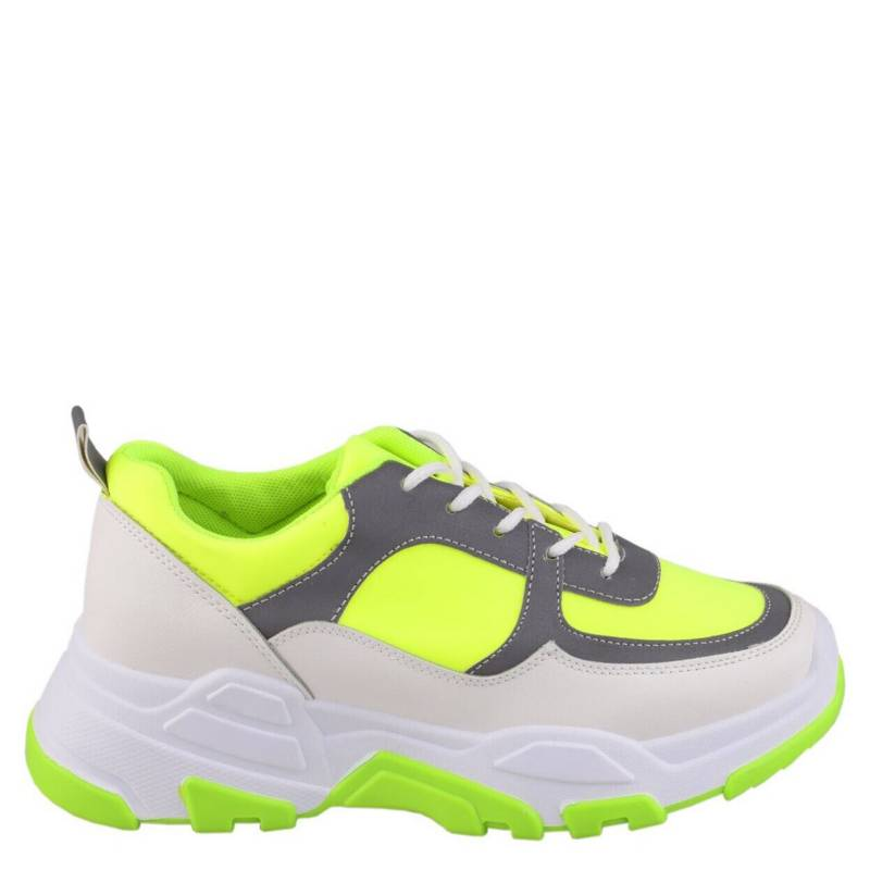 Weide - Zapatilla Chunky mujer Lucy2 Verde