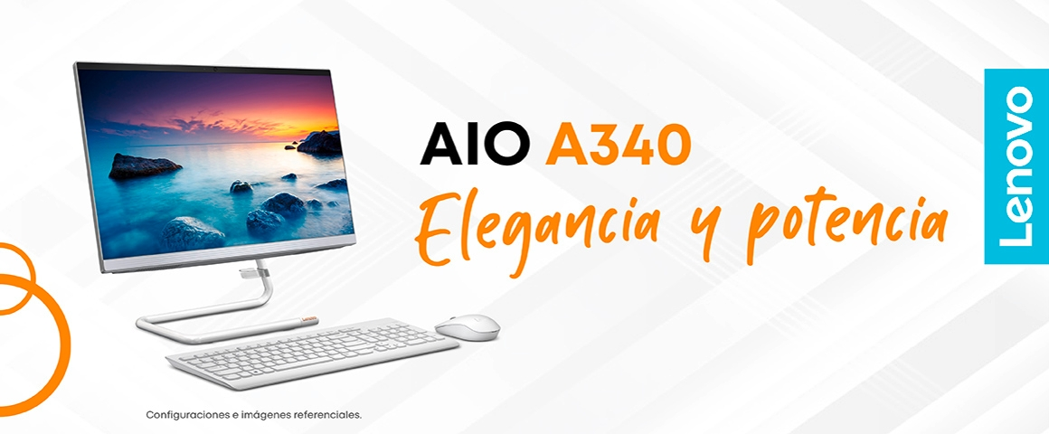 Monitor Lenovo All in One A340 blanco