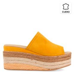 GIOSEPPO - Sandalia Mujer Cuero Amarillo