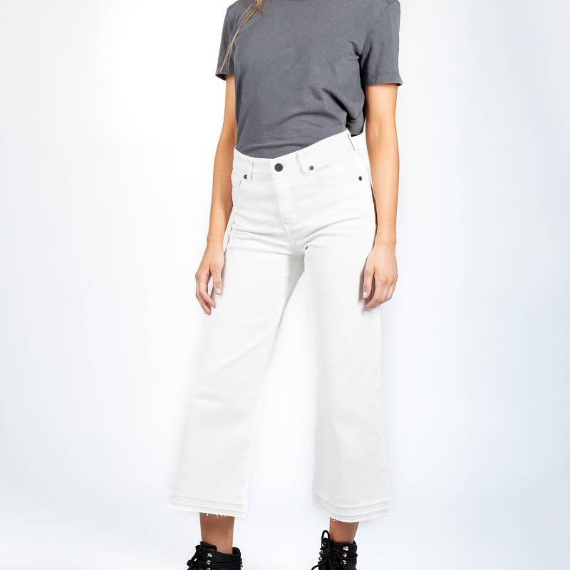 MONA - Jeans Culotte Blanco