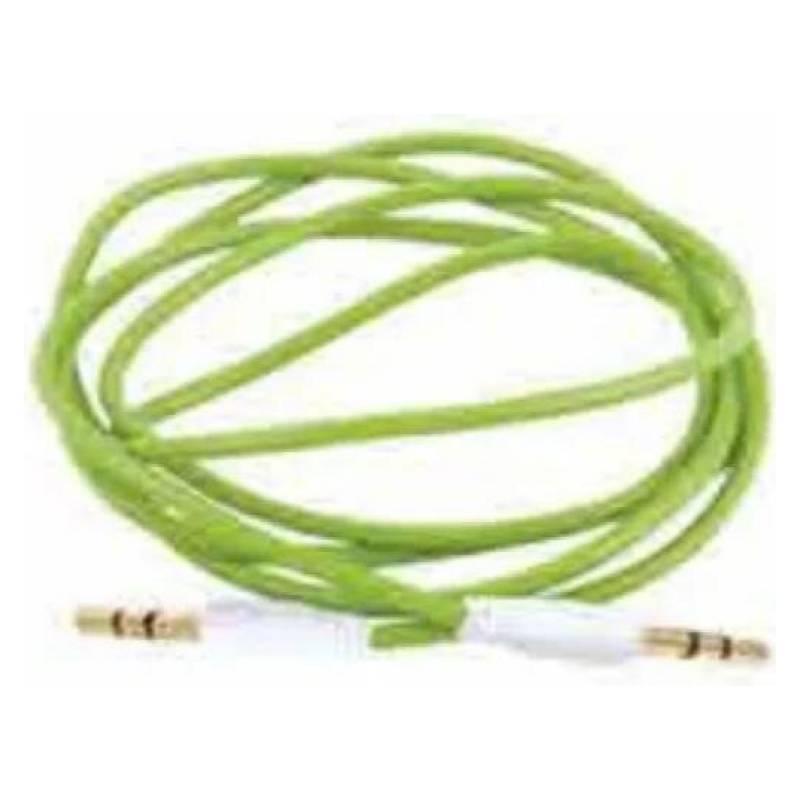 Cable Estéreo 3.5mm a 3.5mm Neón Verde / K