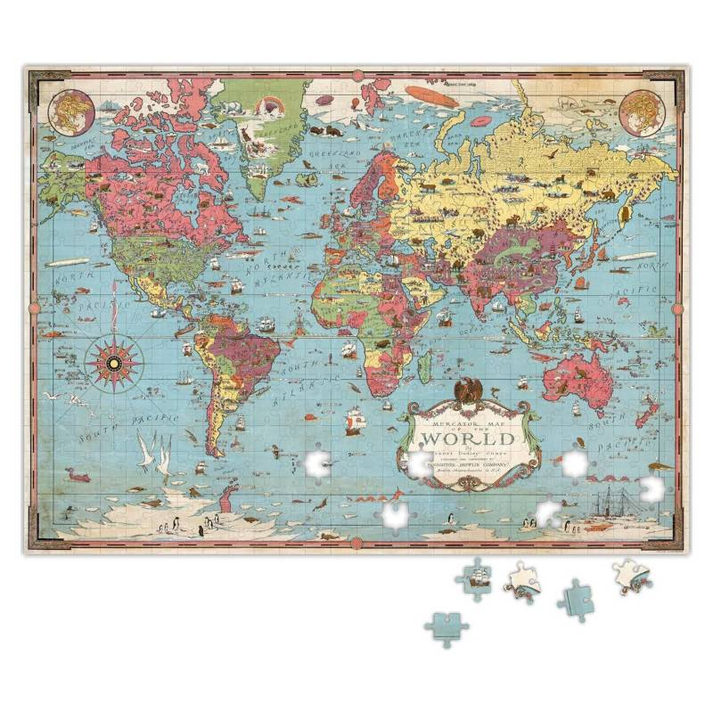 CARNAVALONLINE - Puzzle Mapa Mundi Mappin 500 piezas