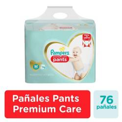 Pampers - Pañales Pampers Pants Premium Care 76u Talla M