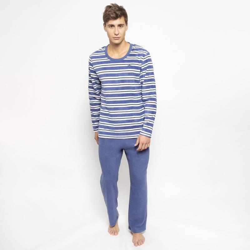 Palmers - Pijama Largo Micropolar Lineas